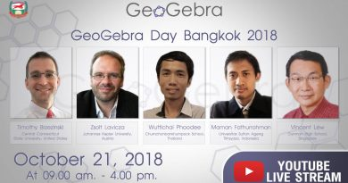 Watch Live!  back here !!. GeoGebra DAY BANGKOK 2018 THAILAND 21 October 2018 Supported by Sakdibhornssup Foundation